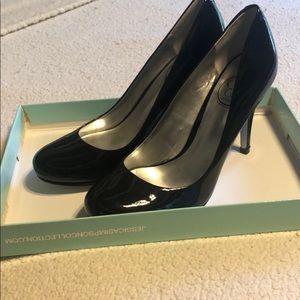 Jessica Simpson Black Patent Leather heels, 6.5